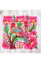 Embroidered Fabric - DIY Pink Bird