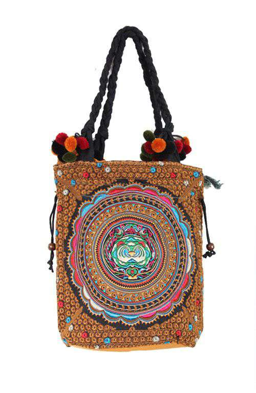 Golden Circle Tribal Tote Bag