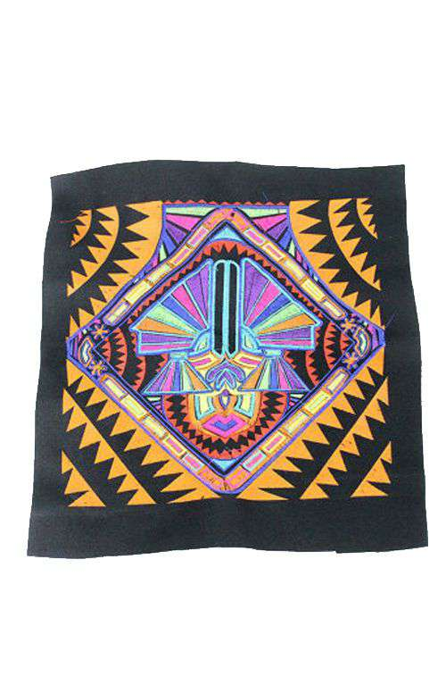 Embroidered Fabric - Textile Tribal Love