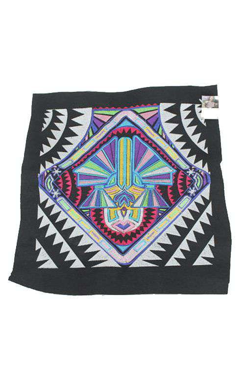 Embroidered Fabric - Tribal Textile White