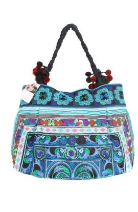Hmong Blue Bird Shoulder Bag
