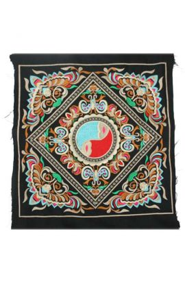 Funky and Colorful Embroidered Fabric