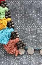 Large Bohemian Batik Purse