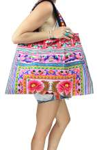 Thai Flower Shoulder Beach Bag