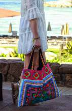 Sandy Beach Bag - Blue Rose