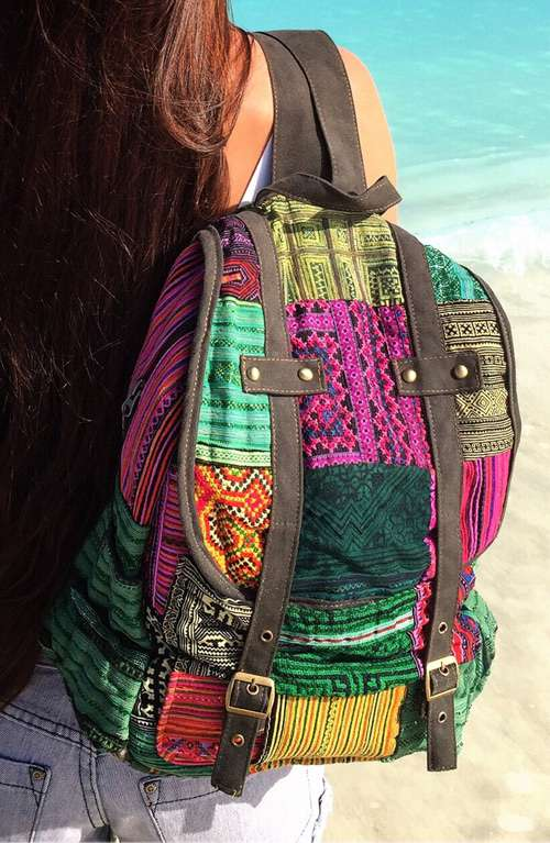 multicolored backpack multicolored boho backpack