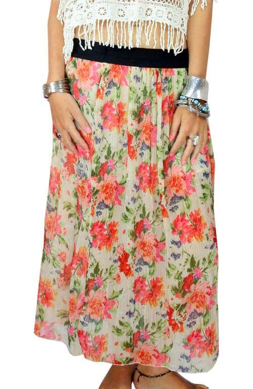 Boho Skirt - Pretty Flowers