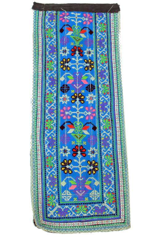HMONG Cross Stitch - Blue