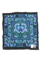 Embroidered Fabric - Blue Bird