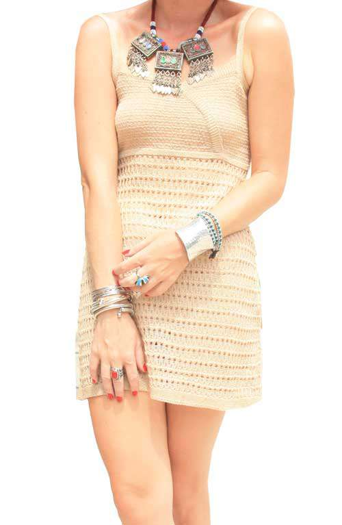 Crochet Dress - Beige