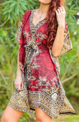 Kaftan - Artistic Red