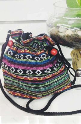 Tribal Sling Bucket Bag
