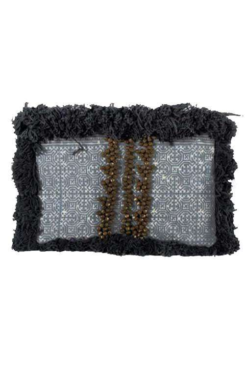 Funky Black Large Clutch