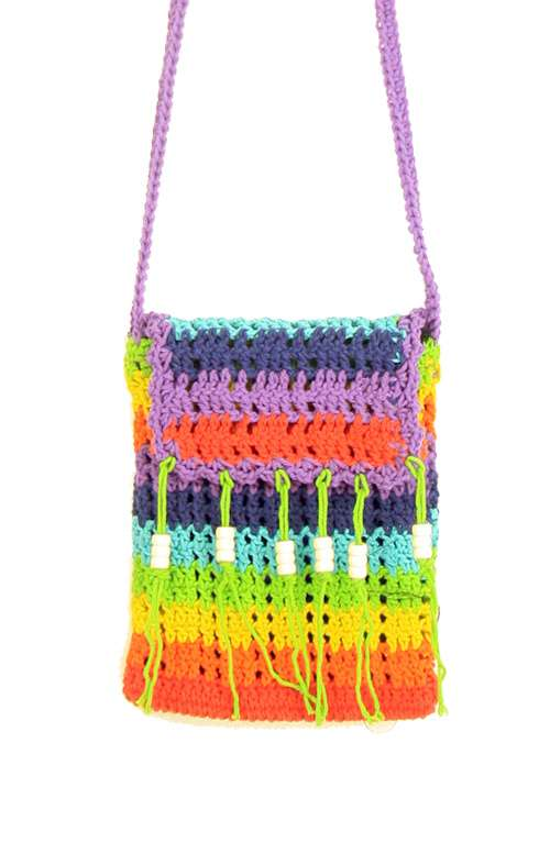 Festival Rainbow Crochet Bag