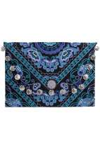 Kimmi Clutch - Blue Butterfly