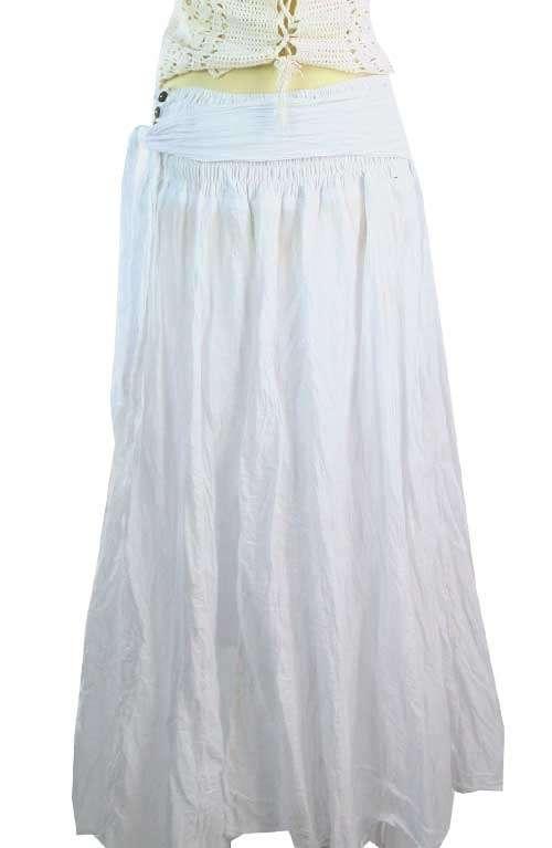 bohemian white maxi skirt offbeat boutique