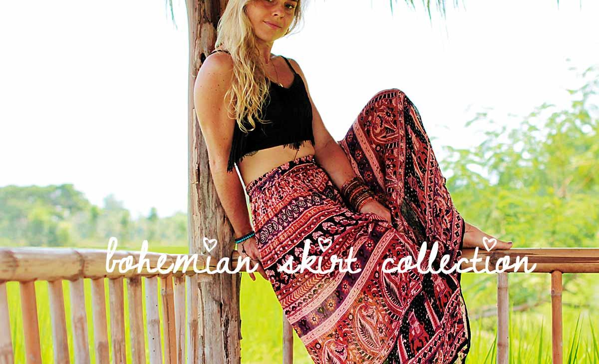 Colección de falda bohemia